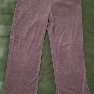 Style & Co Sport Women's Gray Velour Lounge Pants